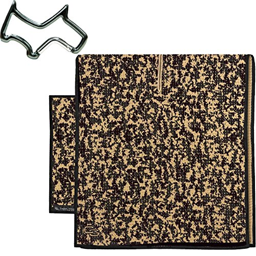 Club Glove Retail Microfiber Tandem golf towel set (Caddy and Pocket Towel) + Towel Ring, Camo -