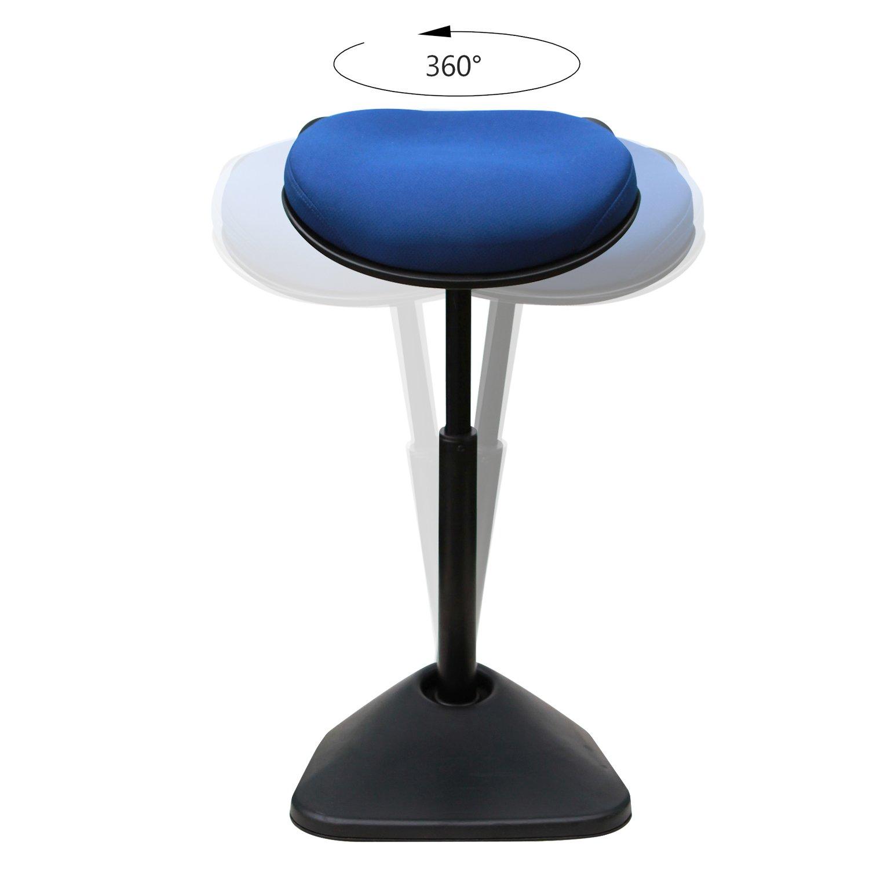 Blu AIMEZO Sedia da scrivania con Sgabello Regolabile in Altezza Sgabello da Seduta Attivo con braccioli Regolabili
