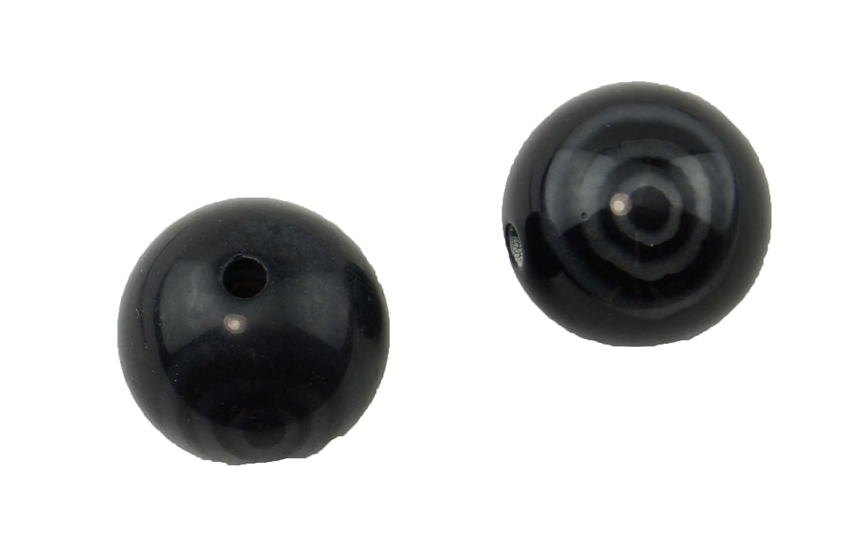 schwarz Swirl Round Resin Bead (37887-240) (37887-240) (37887-240) B004WKKK0Y | Perfekt In Verarbeitung  b52802