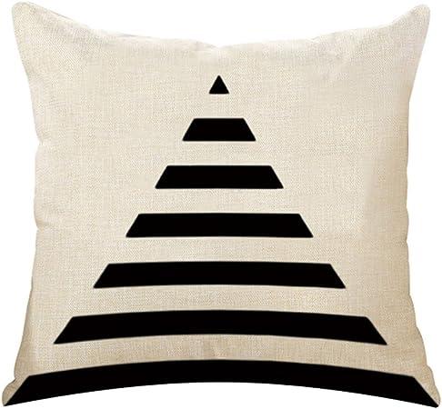 nikgic funda de cojín Algodón y lino funda de almohada estilo nórdico geometría pillow casos sofá cámara Carlos Décor 45 x 45 cm, mezcla de algodón, Style A, 45 x 45 cm: Amazon.es: Hogar
