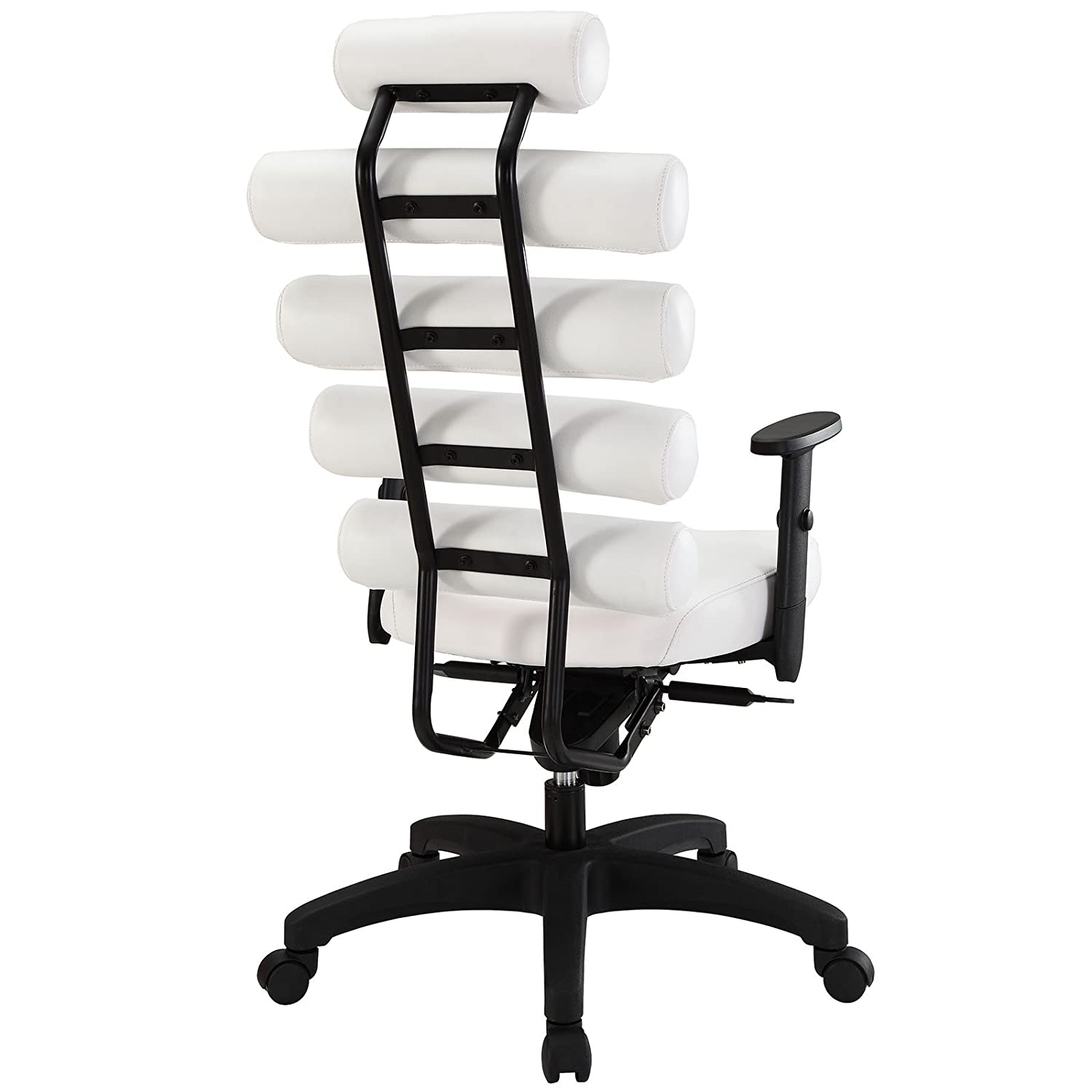amazon com modway pillow office chair white kitchen dining