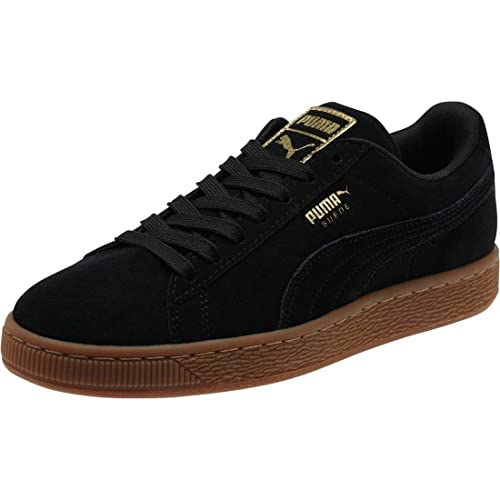 buy online 4ba70 e39af Puma Womens Womens Suede Classic Gold Trainers in Black - UK ...