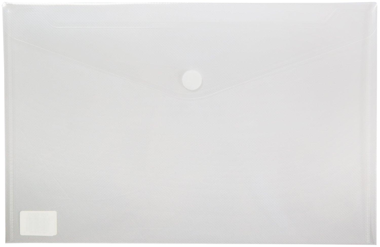 Premium Poly Envelope with Velcro Closure, Legal Size-5pc Mix Colors Set-translucent, Water/tear Resistant