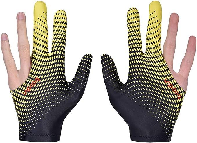 2 guantes de billar de lycra elástica, 3 dedos, para billar y ...