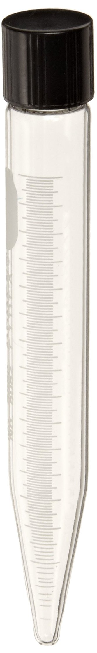 Corning Pyrex 8082-15 Glass Conical Cylindrical 15mL Centrifuge Tube with White Graduations and Screw Cap (Pack of 12)