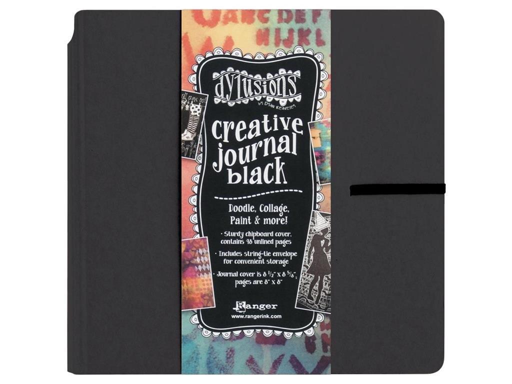 Ranger RGRDYJ.45557 Dylusions Creative Journal Square Black Dylusions Creative Journal Sq