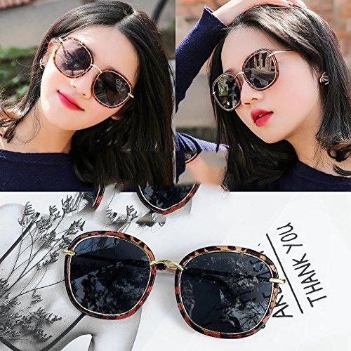 Gafas Cara elegante polarizadas Sunscreen sol de Gafas A Gran Hombre XCF de cara Sun Personalidad sol B Redondo dwq17Wd8p