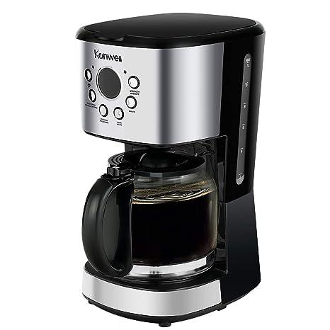 Amazon.com: Kenwell - Cafetera programable de 12 tazas con ...