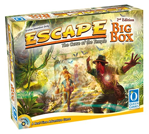 Queen Games Escape Big Box 2nd Edition Family Dice-Board Game by Queen Games