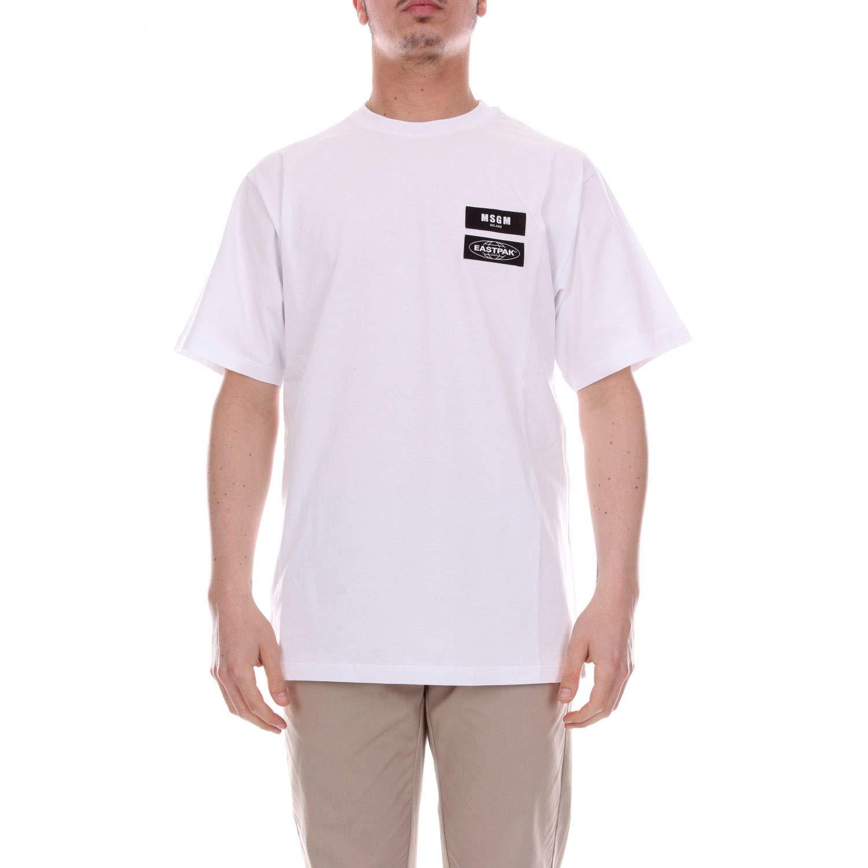 XS MSGM Luxury mode Homme 2540MM20018479801 Blanc T-Shirt   Saison Outlet