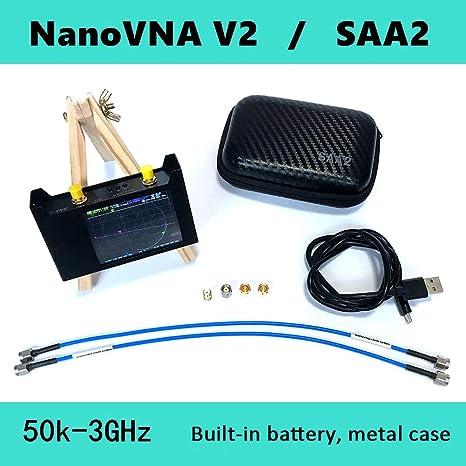 Caige NanoVNA V2 Vector Network Analyzer, 2,8 Pulgadas 50kHz ...