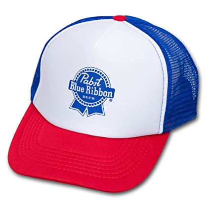 bb94f885f Pabst Blue Ribbon PBR Trucker Hat Red, And Blue
