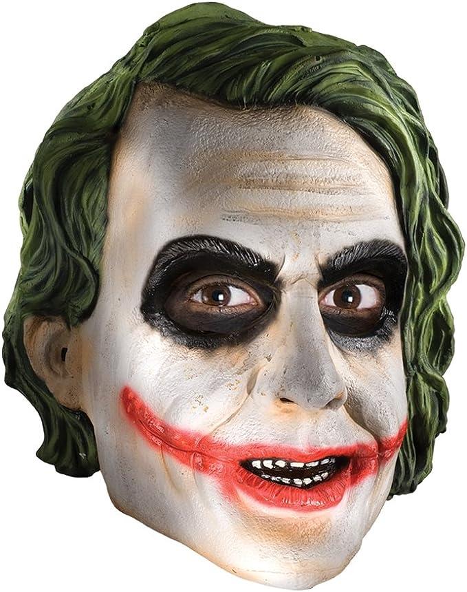 yacn Joker Clown Maschera Creepy Halloween Maschera realistica Costume di Halloween Testa Completa Verde Cosplay Maschera per Adulti