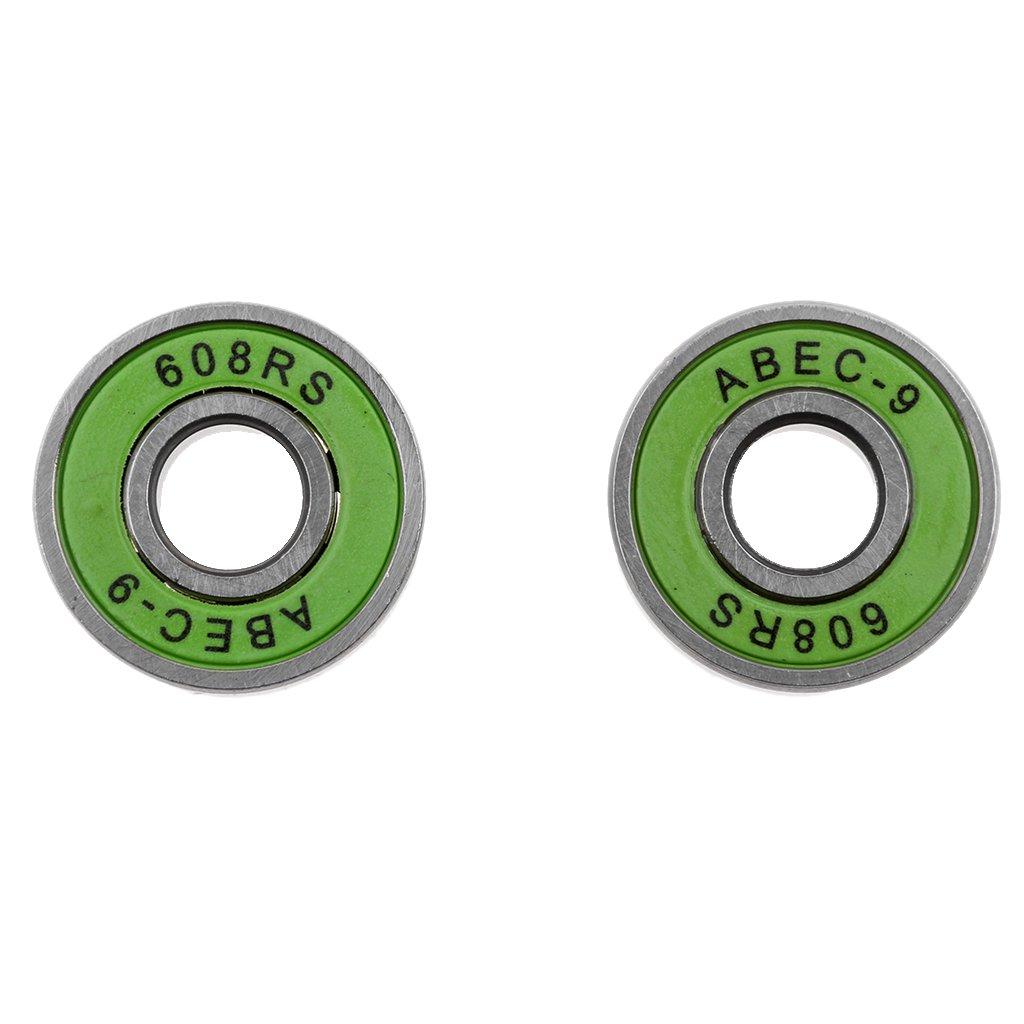 Homyl 10Pcs//Pack Premium ABEC-9 608RS Inline Roller Skate Scooter Skateboard Bearings