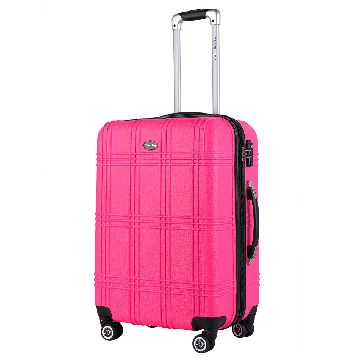 Expandable Spinner Luggage Set,TSA lightweight Hardside Luggage Sets, 20'' 24''28 inches Luggage (HOT PINK-1, 20 inches)