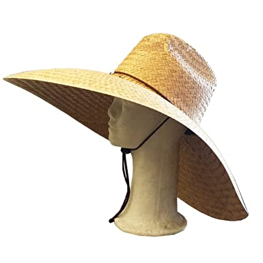 c9e7d8371 BIG SIZE STRAW HAT WITH CHIN STRING FORFARMING FISHING BEACH WIDE BRIM 7.5