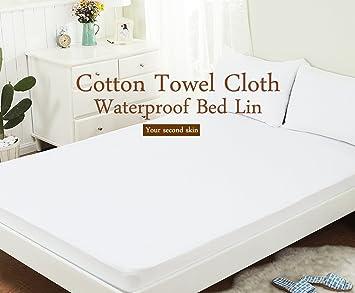 Funda de colchón, 100% algodón, impermeable y transpirable, 135*190/200cm, cama 135: Amazon.es: Electrónica