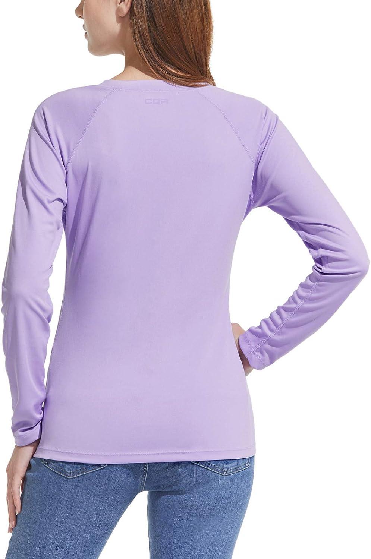 Long Sleeve Sun Protection UV Outdoor Performance Hiking Top T-Shirt CQR Womens UPF 50