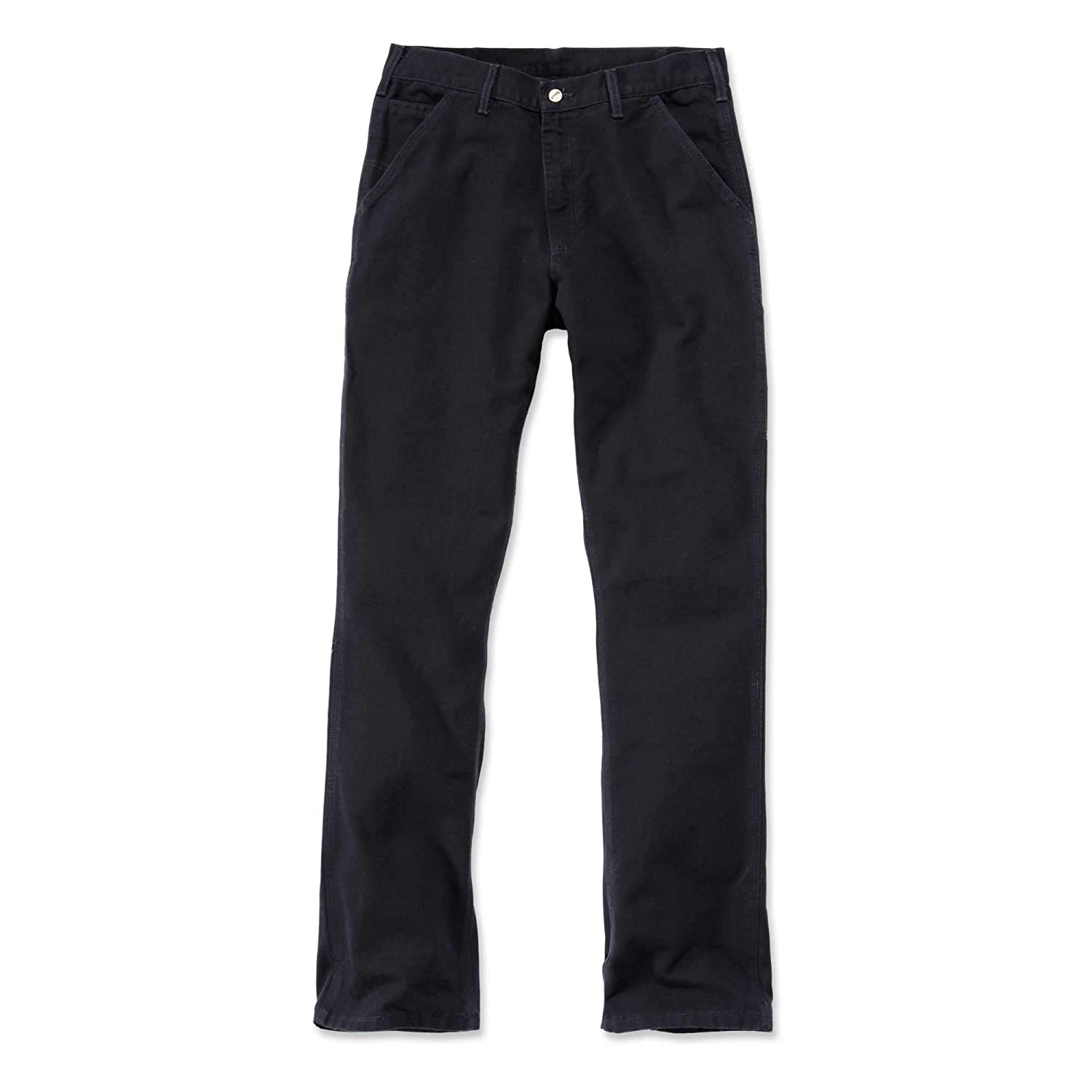 ce2cf6611ed Carhartt Eb011 Mens Washed Duck Work Wear Trouser Pant: Amazon.co.uk:  Clothing