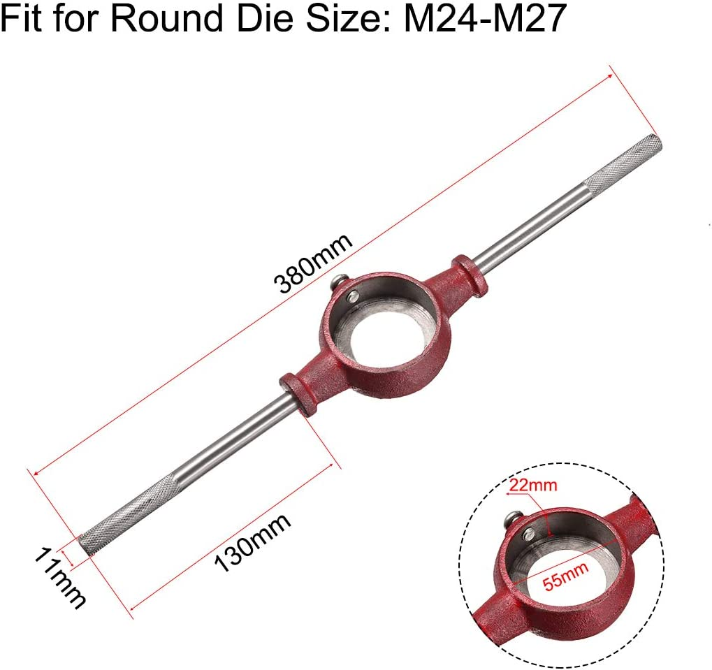 uxcell 55mm ID Round Die Stocke Holder Adjustable Wrench for M24-M27 Round Die