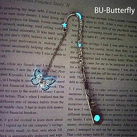 colore argento tipo B 3 pezzi Hongtian Segnalibro che brilla al buio a forma di drago