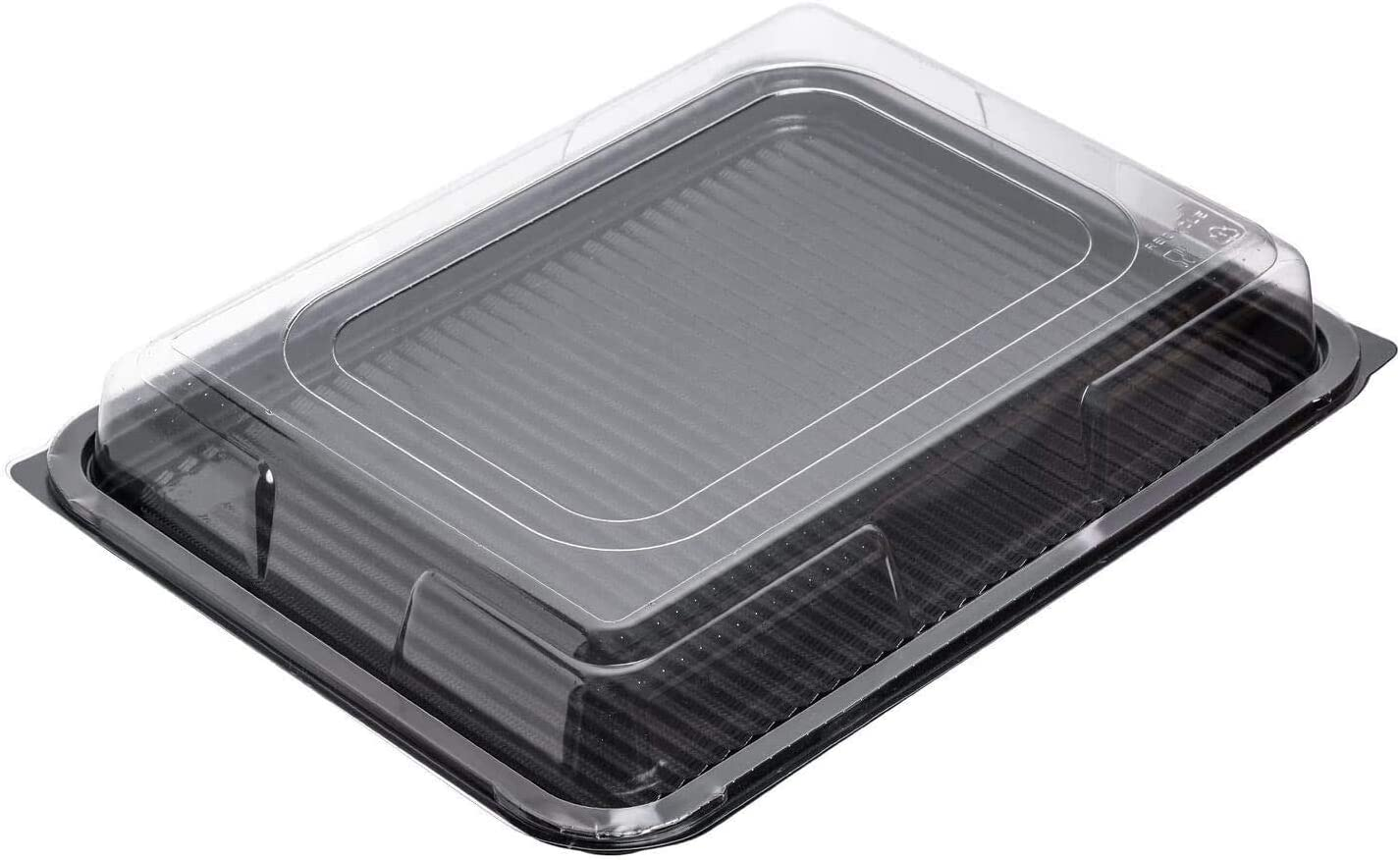 coperchi trasparenti vassoi neri Confezione da 10 vassoi grandi per catering 450 x 350 mm usa e getta con coperchio per sandwich con coperchio