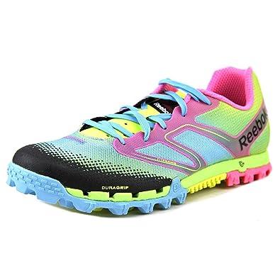 Reebok All Terrain Super Womens Running Shoe 8.5 Yellow Blue Pink