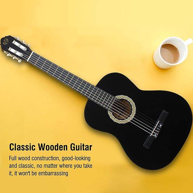Guitarra clásica, guitarra acústica de madera de 39 pulgadas ...