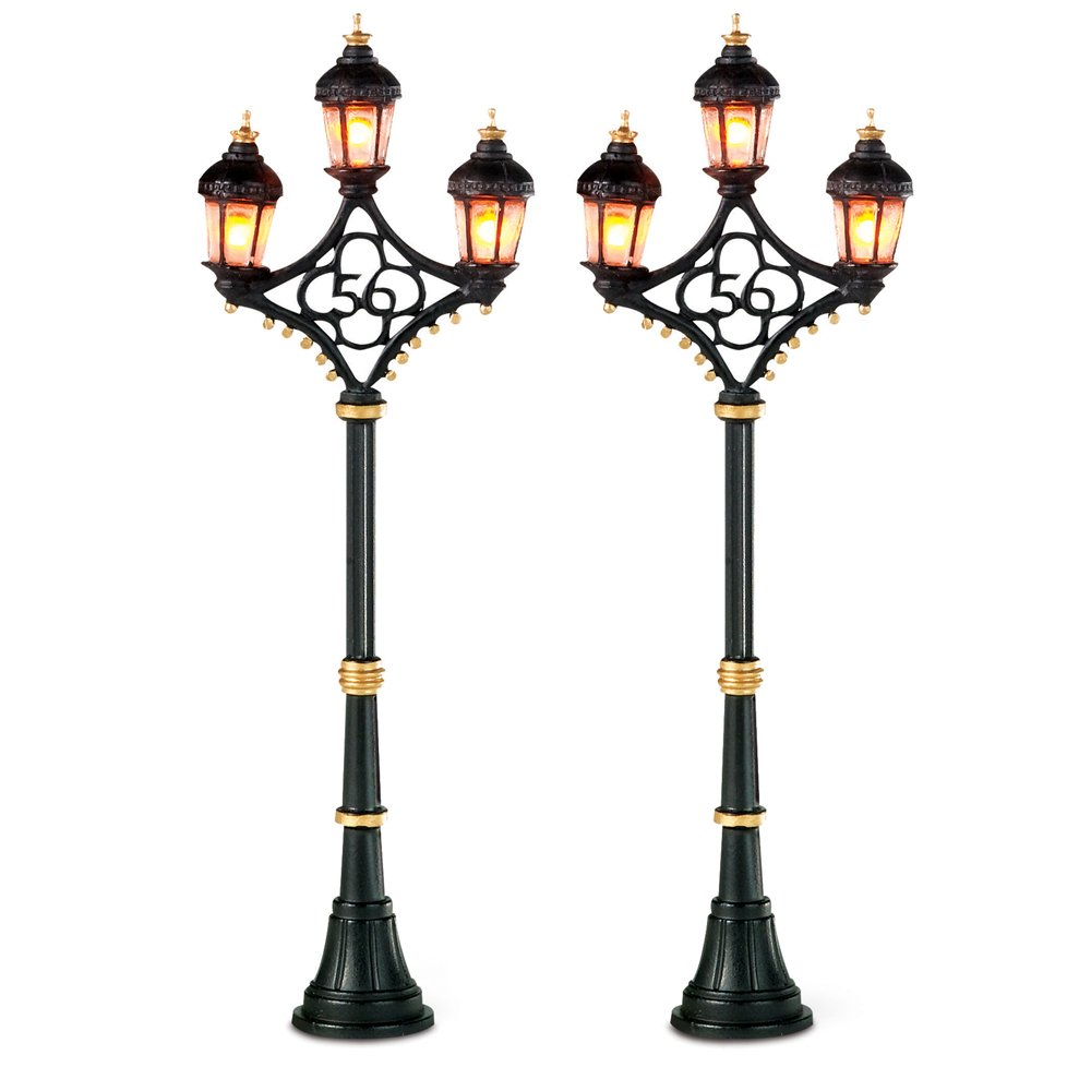 Department 56 Accessories for Villages Fifty-Six Street Lights Accessory Figurine (Set of 2)
