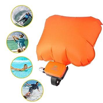 GRH Anti ahogamiento Pulsera Salvavidas Portátil Flotador Pulsera con Cilindro Co2 Vejiga Inflable al Aire Libre Swim Surf Auto Rescate: Amazon.es: Deportes ...