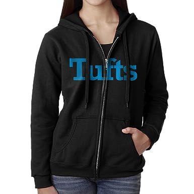 Amazon.com  Women Tufts University Logo Hoodie Sweatshirt Black  Clothing e8808442ab