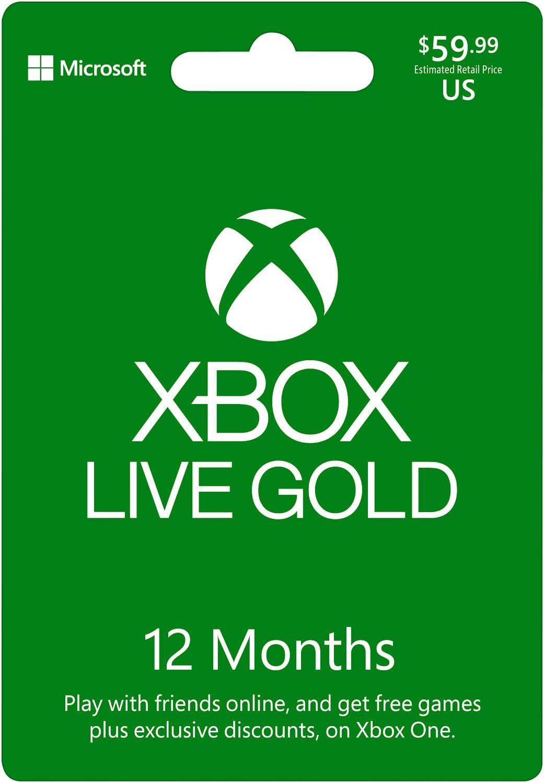 Microsoft - Xbox Live 12 Gold Card Pan Euro (Xbox One): Amazon.es: Videojuegos