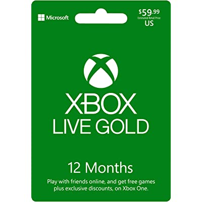 Microsoft - Xbox Live 12 Gold Card Pan Euro (Xbox One)