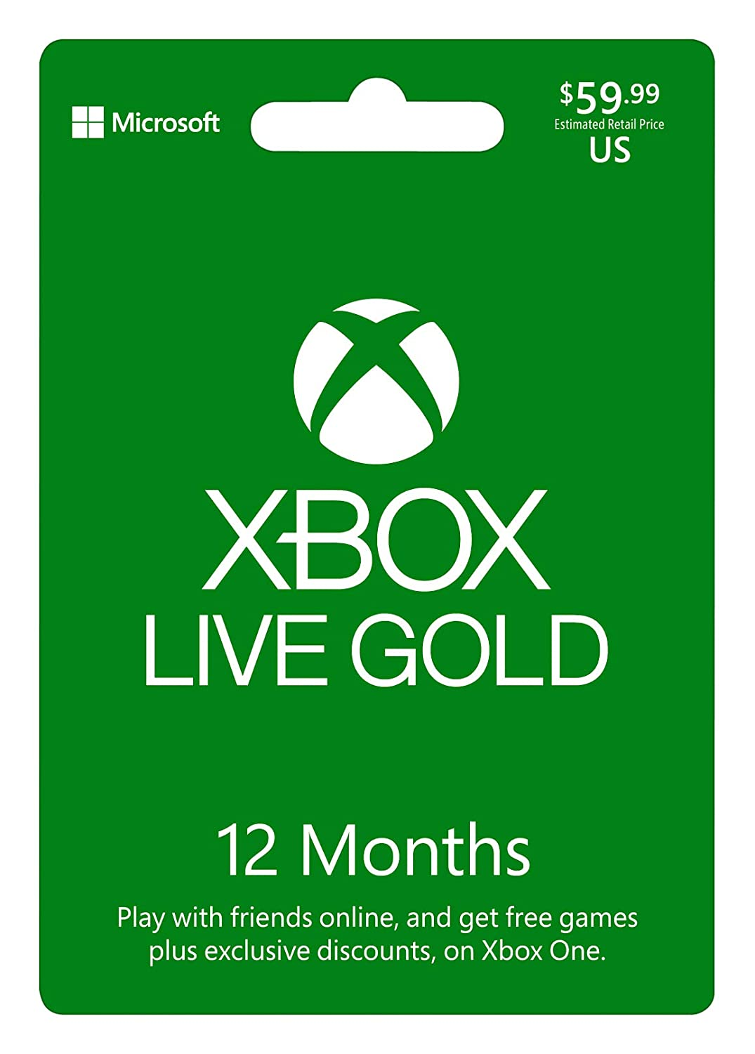 Microsoft Xbox Live 12 Month Gold Membership Physical Card Xbox Live 12 Month Gold Card En Es Us Fpp Video Games