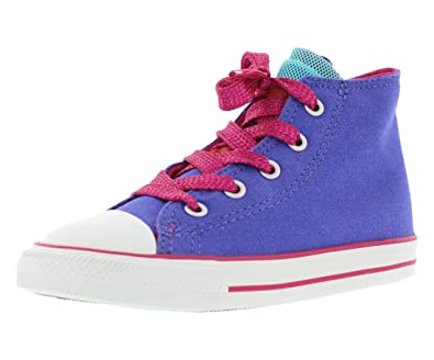 Converse Kids Baby Girl's Chuck Taylor All Star Party Hi (Infant/Toddler)  Periwinkle