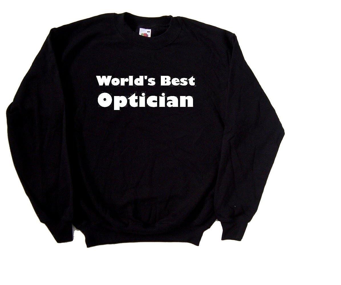 Worlds Best Optician Black Sweatshirt