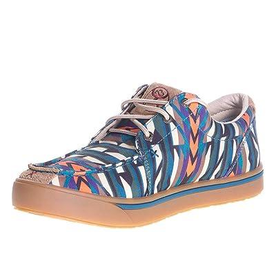 Twisted X Boots Nrs Footwear Mens Blue Aztec Loper Casual Shoe | Walking