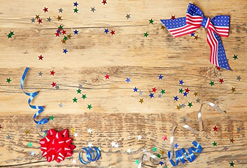 Yeele 5x3ft Colored Ribbon American Flag Backdrop Fourth of July Independence Day Patriot Party Streamer Banner Decoration Photography Background Baby Adults Portraits Photo Shooting Studio Props -
