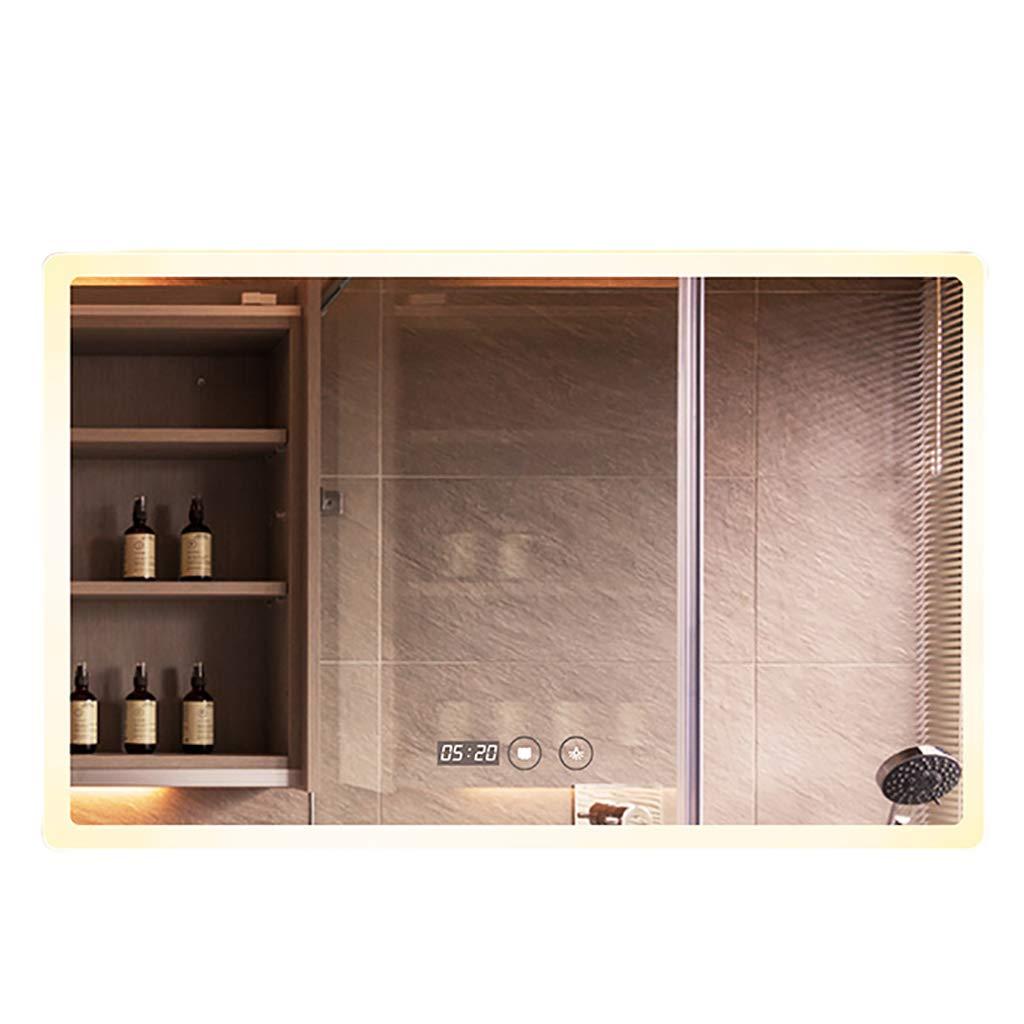 卸売 ウォールマウントされたLEDミラーのバスルームは、防曇とタッチボタンで正方形の鏡を作る時間温度表示インテリジェントなホテルのバスルームミラー B07L73W1QT Warm B07L73W1QT light Warm light 600*800mm, Office WOW!:e59a3b2a --- mcrisartesanato.com.br