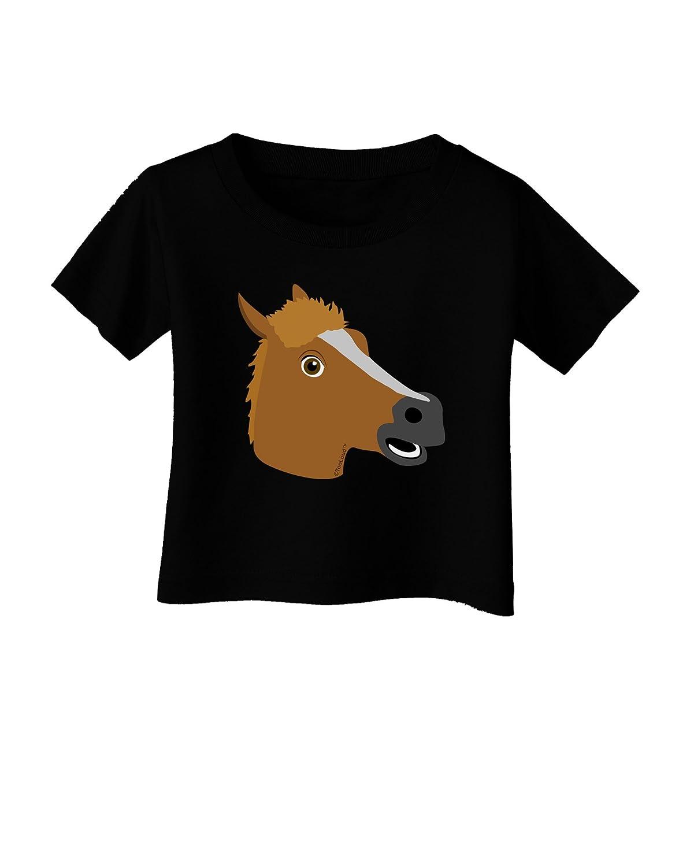 TooLoud Silly Cartoon Horse Head Infant T-Shirt Dark