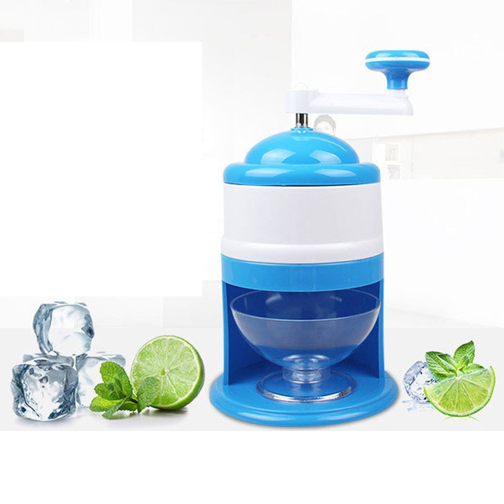 Hot Selling Ice Crushers,IKevan Portable Hand Crank Manual Ice Shaver Crusher Shredding Snow Cone Maker Machine