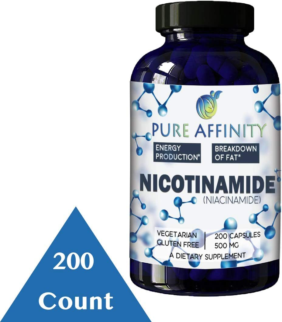 200 Count B3 Nicotinamide 500 mg Effective Flush-Free Niacin. Energy Booster, Cell Regenerator, Supports Cognitive Decline, Anti-Aging and Helps Breaks Down Carbs Fats 200 Ct