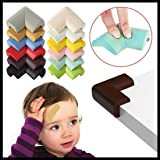Shangjie Town 12 PCS Baby Safety Table Edge Protector Child Kids Proofing Anti-Crash Protection Pad Right Angle Cushion Furniture Corner Guard Multicolor