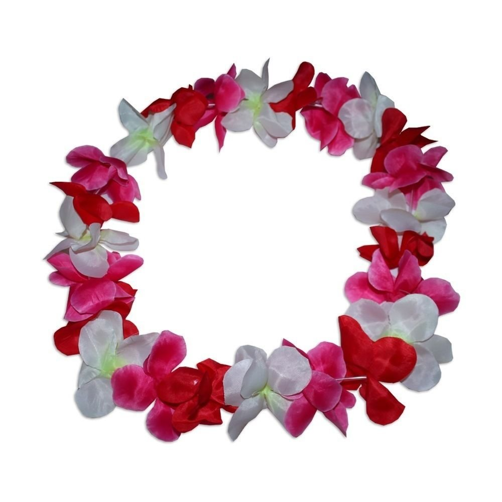 Amazon large 100cm party hawaiian lei lay pink red yellow amazon large 100cm party hawaiian lei lay pink red yellow flower wreith mq 158 home kitchen izmirmasajfo