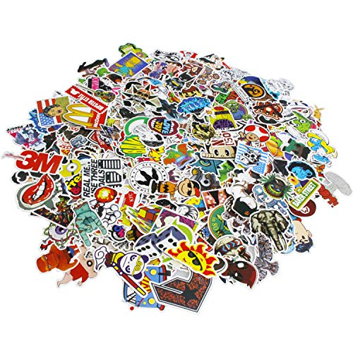 Future Stickers 600 pcs Laptop Stickers Car Motorcycle Bicycle Luggage Decal Graffiti Patches Skateboard Stickers for Laptop - No-Duplicate Sticker Pack