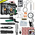 Emergency Survival Kit UPGRADED #1 BEST 43 in 1 Tools Outdoor Gear For Camping EDC Hiking Disaster Preparedness With First Aid Supplies Your Tactical Off Grid Bug Out Bag Tool Box by #1 BEST