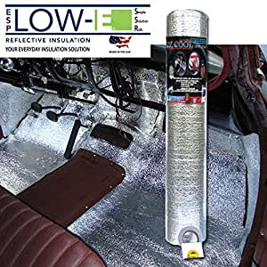 ESP Low-e® Ez-cool Car Insulation Kit(includes 200 Sq. Ft Insulation, 50' Foil Tape): Heat and Sound Automotive Insulation for Your Car Restoration Projects
