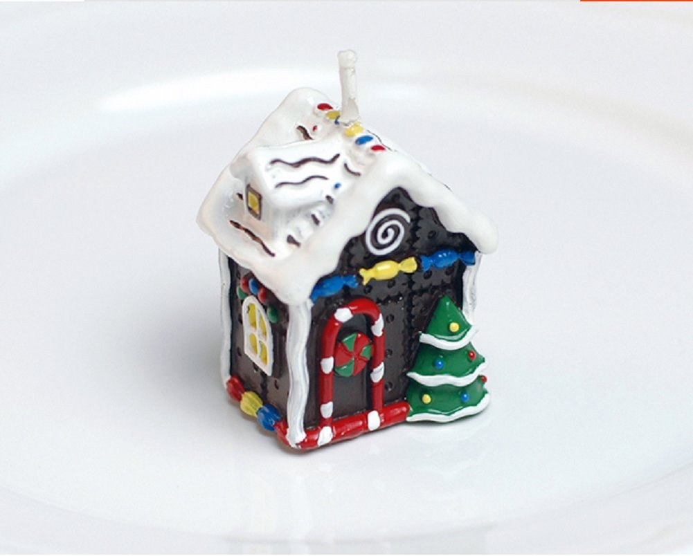 Red cherry christmas house cute decoration candles