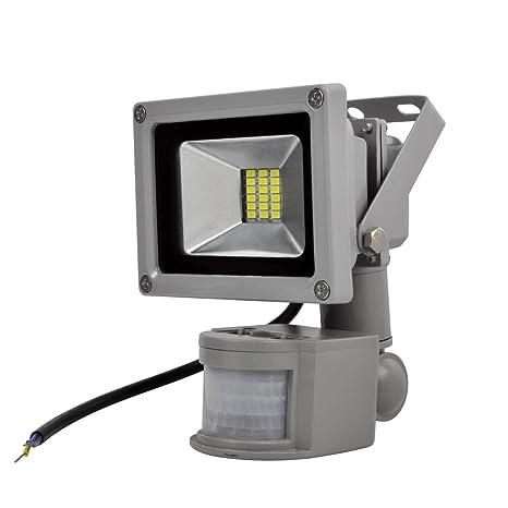 20W LED SMD, blanco frío interior-Foco proyector halógeno exterior ecológico, con detector