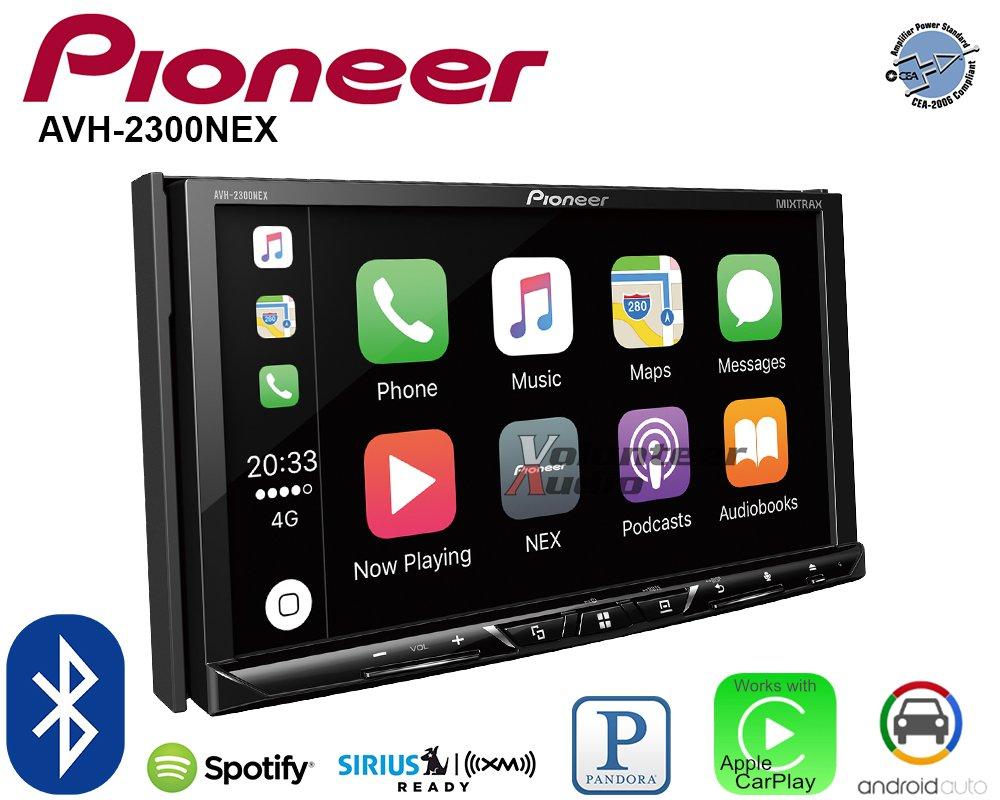 Volunteer Audio Pioneer AVH-2300NEX Double Din Radio Install Kit with Apple CarPlay Android Auto Bluetooth Fits 2013-2017 Honda Accord by Volunteer Audio (Image #4)